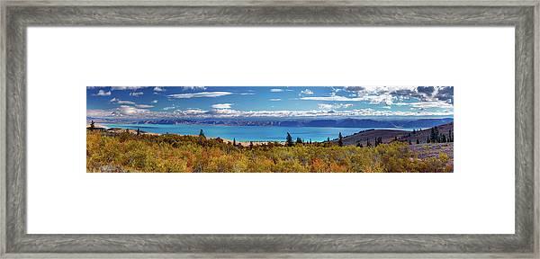 Bear Lake Panoramic Framed Print by Leland D Howard
