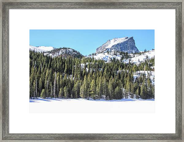 Framed Print featuring the photograph Bear Lake View Of Notchtop Mountain by Dawn Richards