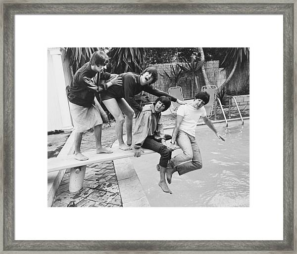 Beatles In La Framed Print