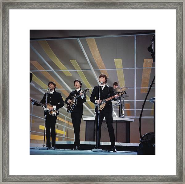 Beatles On Us Tv Framed Print by Paul Popper/popperfoto