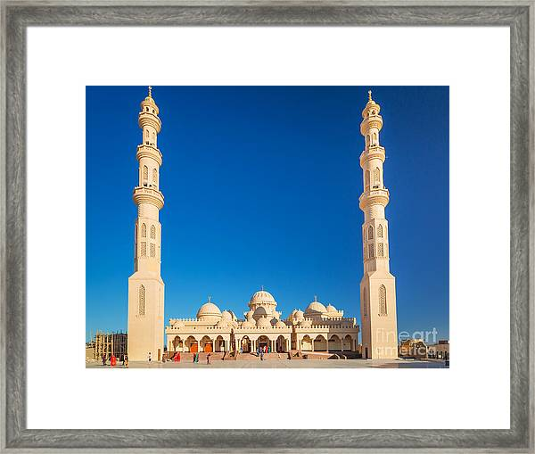 Beautiful Architecture Of Mosque In Framed Print