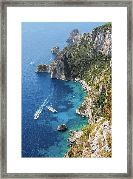 Beautiful Capris Sea Framed Print