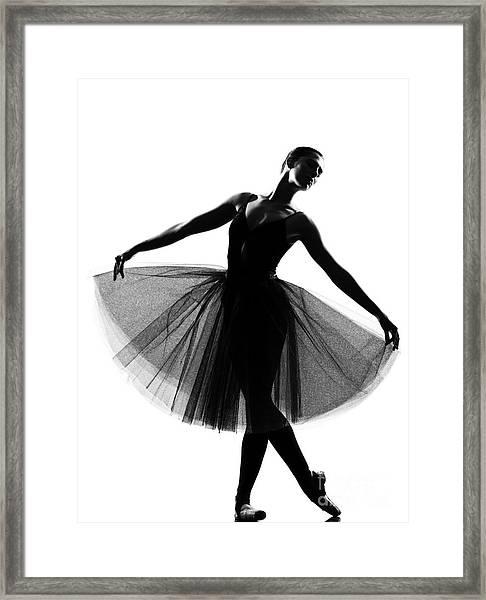 Beautiful Caucasian Tall Woman Ballet Framed Print