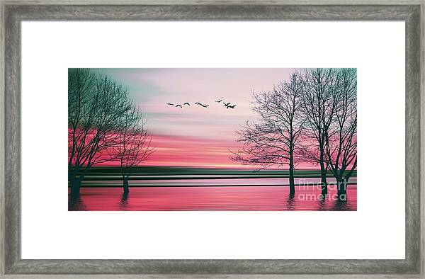 Beautiful Colorful Natural Landscape Framed Print
