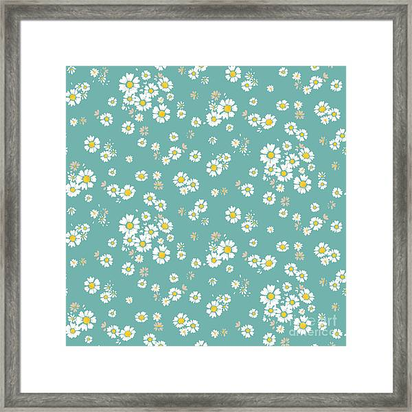 Beautiful Ditsy Floral Seamless Framed Print