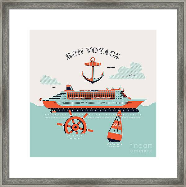 Beautiful Four Colored Bon Voyage Framed Print