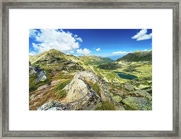 Framed Print featuring the photograph Beautiful Landscape Of Pirin Mountain by Milan Ljubisavljevic