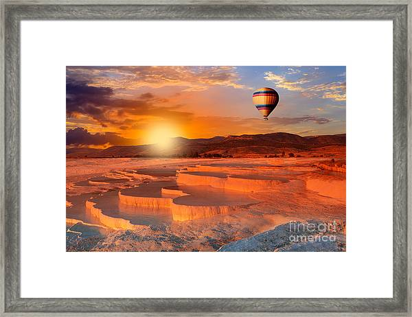Beautiful Sunrise And Natural Framed Print