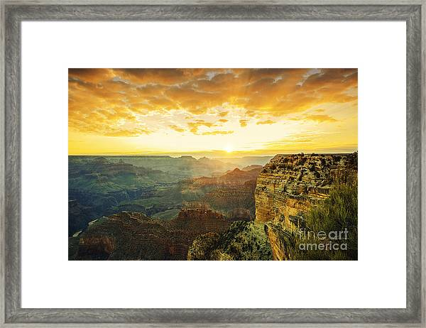 Beautiful Sunset At Monument Valley, Usa Framed Print