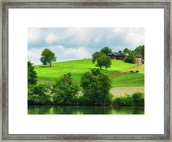 Framed Print featuring the photograph Beautiful Tennessee Countryside by Dee Browning