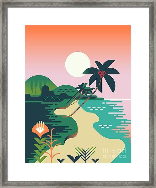Beautiful Vector Flat Design Framed Print