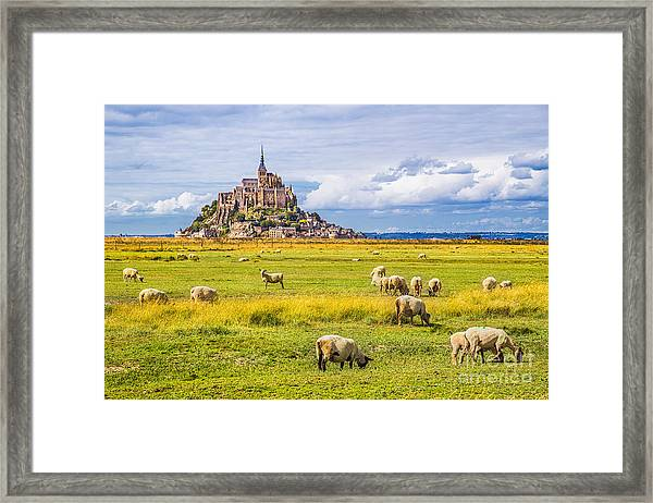 Beautiful View Of Famous Historic Le Framed Print by Canadastock