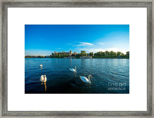 Beautiful View On Vistula River With Framed Print