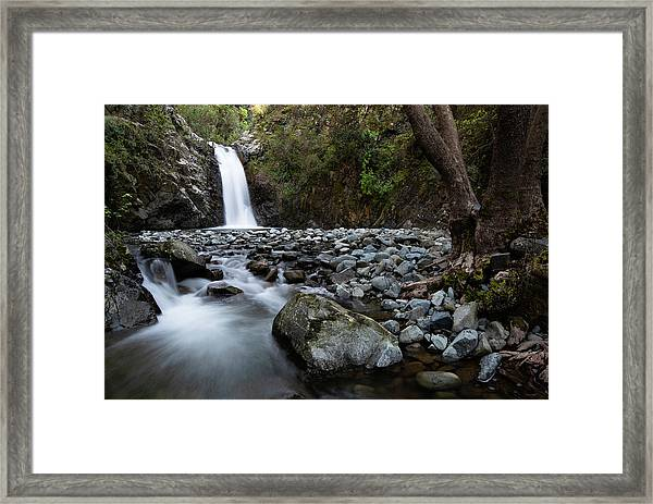 Beautiful Waterfal, Troodos Mountains, Cyprus Framed Print