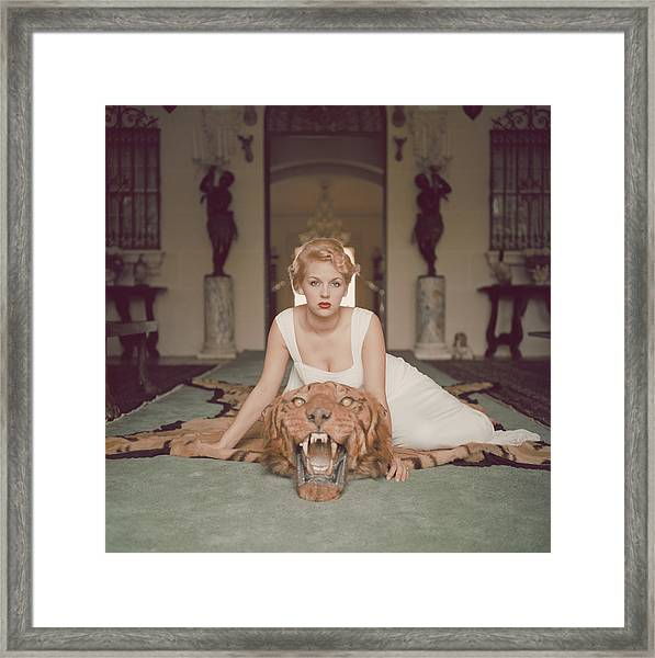 Beauty And The Beast Framed Print by Slim Aarons
