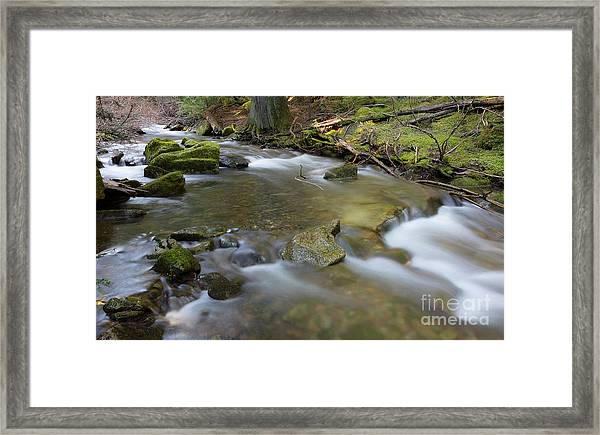 Beauty Creek Flow Framed Print