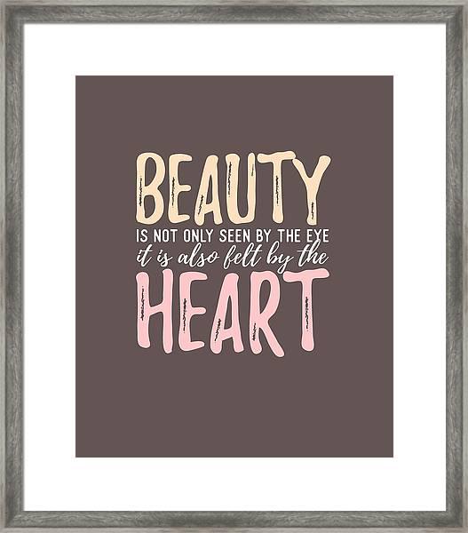Beauty Heart Framed Print