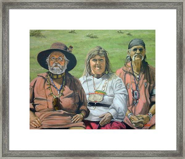 Beaver Camp Framed Print