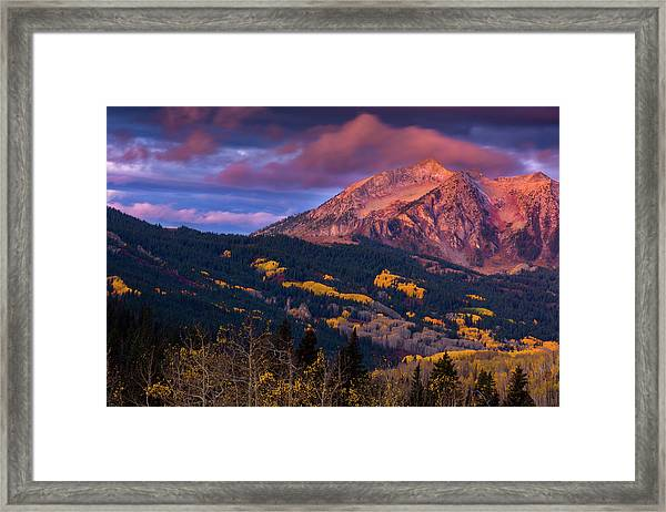 Beckwith At Sunrise Framed Print