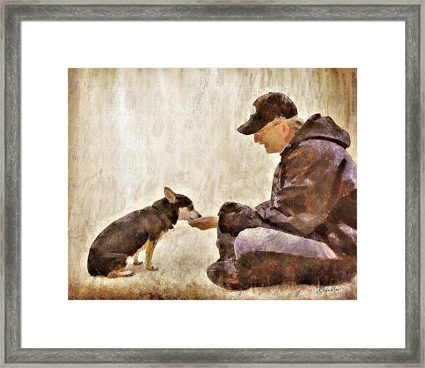 Becoming Friends Framed Print