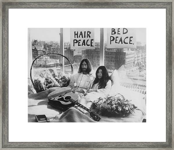 Bed-in For Peace Framed Print
