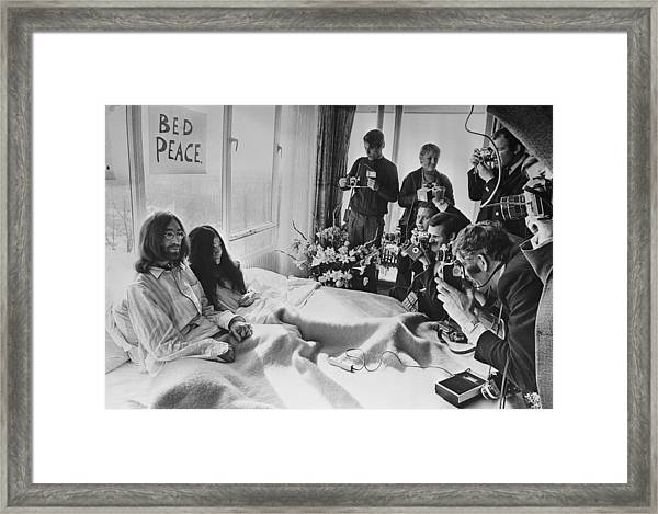 Bed Peace Framed Print