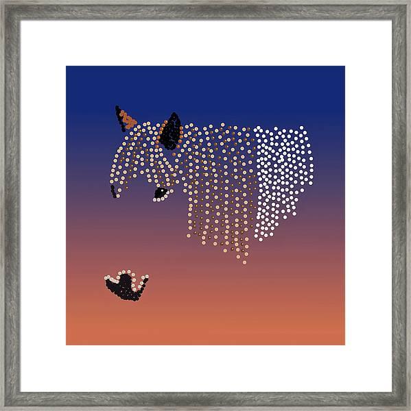 Bedazzled Horse's Mane Framed Print