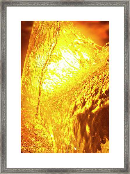 Beer Being Poured Framed Print by Antonio Luiz Hamdan