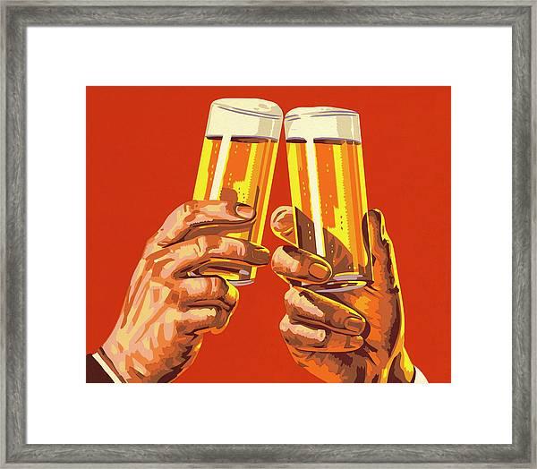 Beer Toast Framed Print