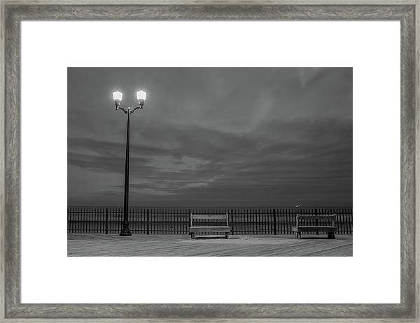 Before Dawn On The Boards Framed Print