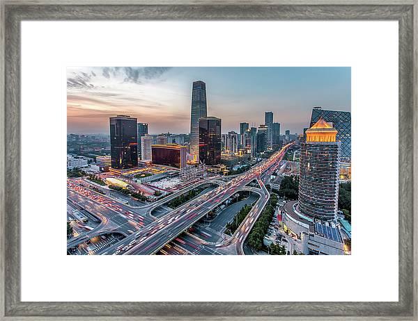 Beijing Central Business District Framed Print