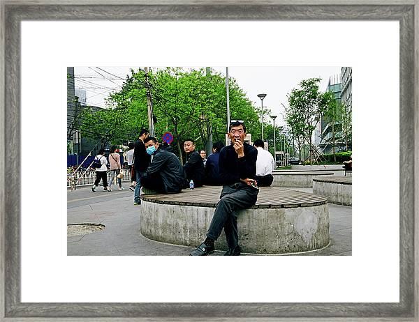Beijing Street Framed Print