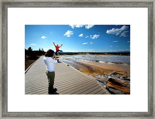 Being Playful At Yellowstone National Framed Print