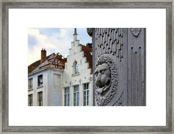 Belgian Coat Of Arms Framed Print