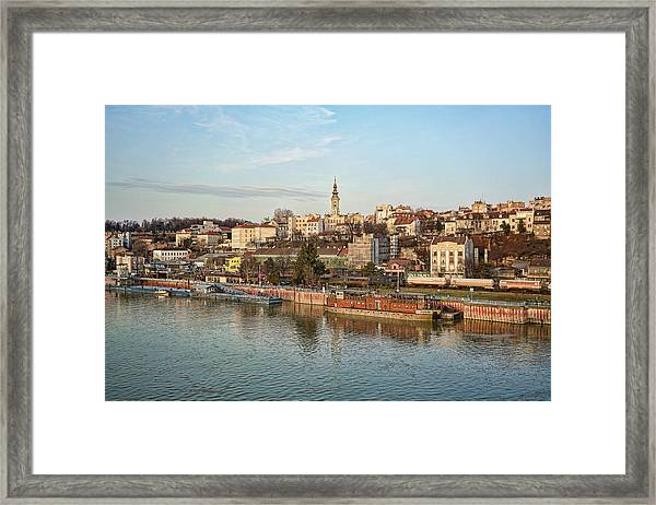 Framed Print featuring the photograph Belgrade Cityscape by Milan Ljubisavljevic