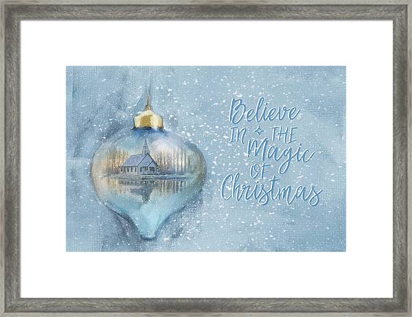 Believe In The Magic - Hope Valley Art Framed Print