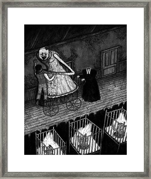 Bella The Nightmare Carriage - Artwork Framed Print
