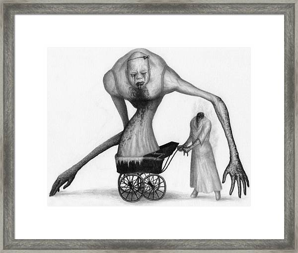 Bella The Nightmare Carriage Updated - Artwork Framed Print