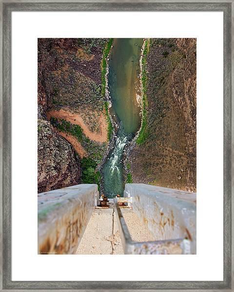 Below The Bridge Framed Print