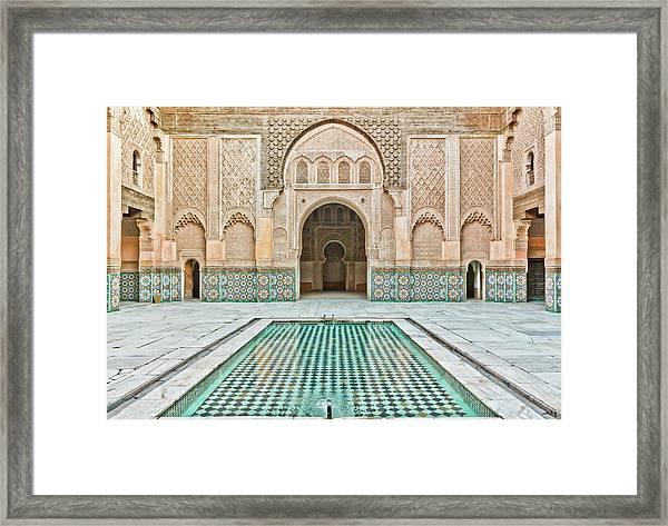Ben Youssef Madrasa Framed Print by (c) Thanachai Wachiraworakam