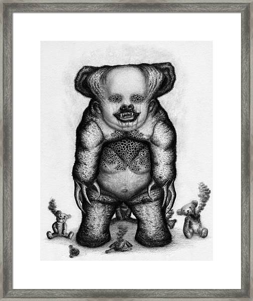 Benjamin The Nightmare Bear - Artwork Framed Print