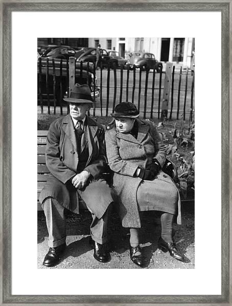 Berkeley Couple Framed Print by Kurt Hutton