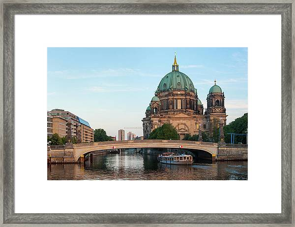 Framed Print featuring the photograph Berliner Dom And River Spree In Berlin by Milan Ljubisavljevic