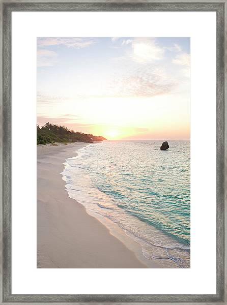 Bermuda Beach At Sunrise Framed Print