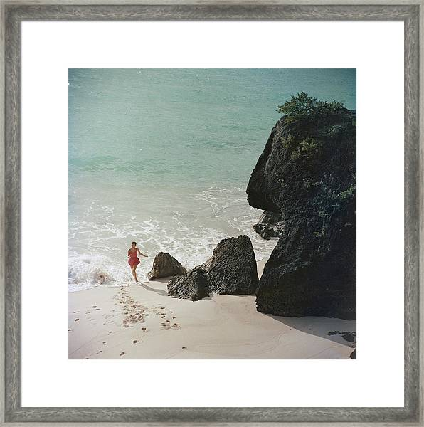 Bermuda Beach Framed Print by Slim Aarons