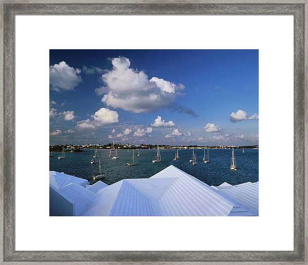 Bermuda, St George, Step-like Roofs Of Framed Print