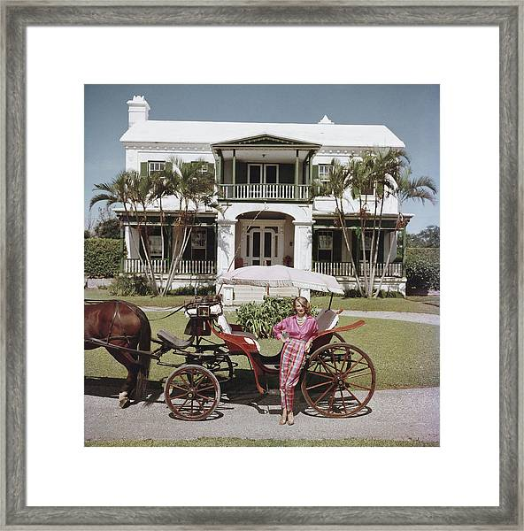 Bermudan Hostess Framed Print