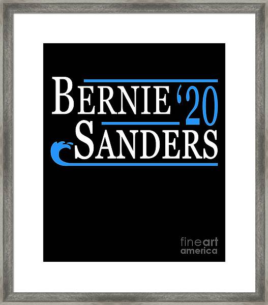 Bernie Sanders Blue Wave 2020 Framed Print