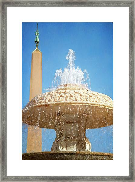 Bernini Fountain St Peter's Square Vatican City Framed Print