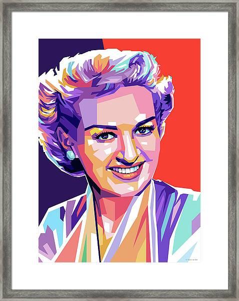 Betty Grable Pop Art Framed Print